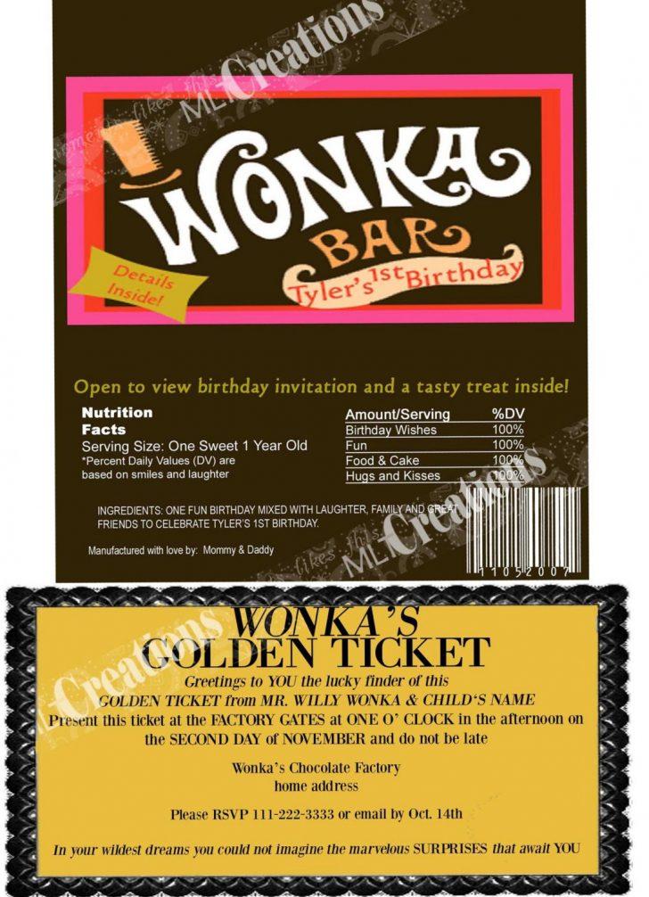 Wonka Bar Wrapper Printable Free