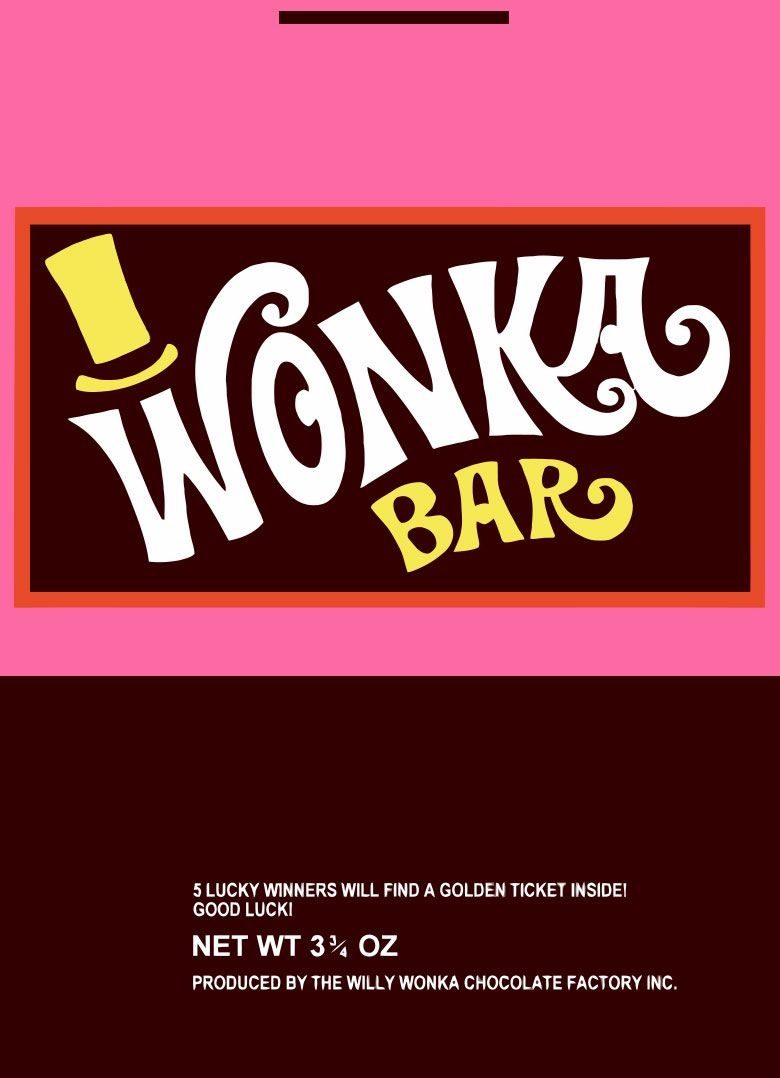 Wonka Wrapper | Willy Wonka | Wonka Chocolate, Willy Wonka, Wonka - Wonka Bar Wrapper Printable Free