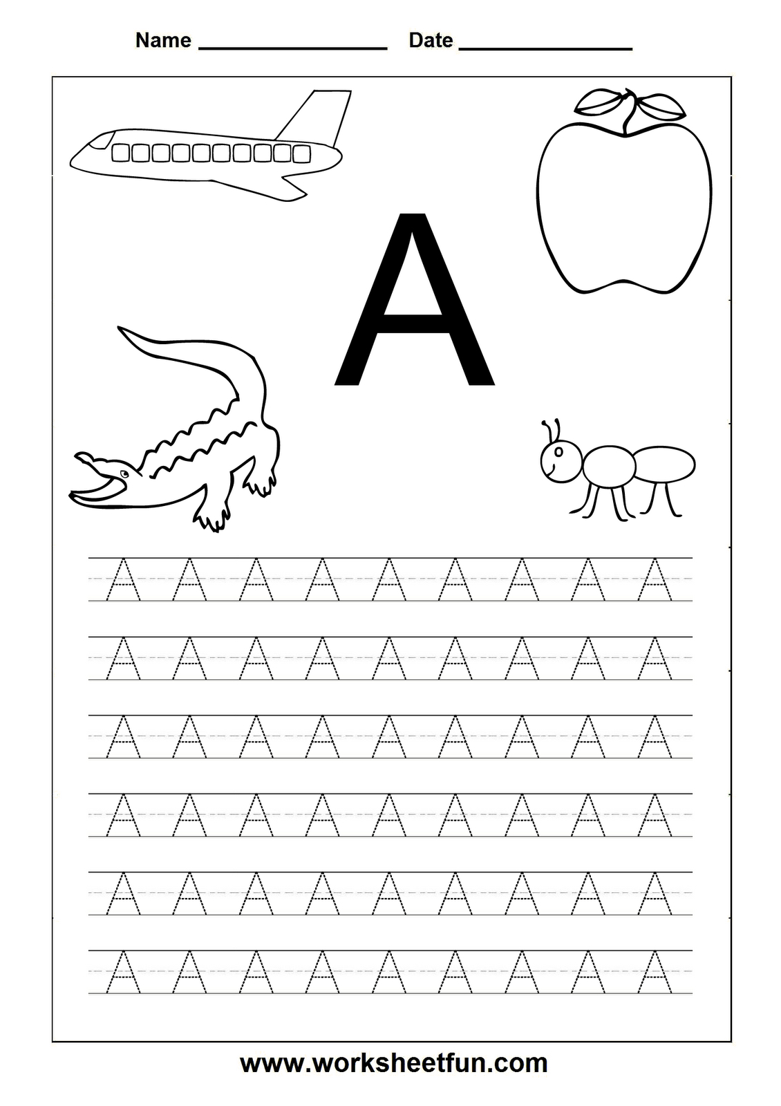 Worksheetfun - Free Printable Worksheets | Toddler Worksheets - Free Printable Letter Worksheets
