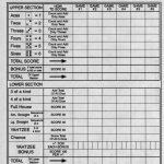 Yahtzee Score Sheets Free Printable | Blank Yahtzee Score Sheet   Free Printable Yahtzee Score Sheets