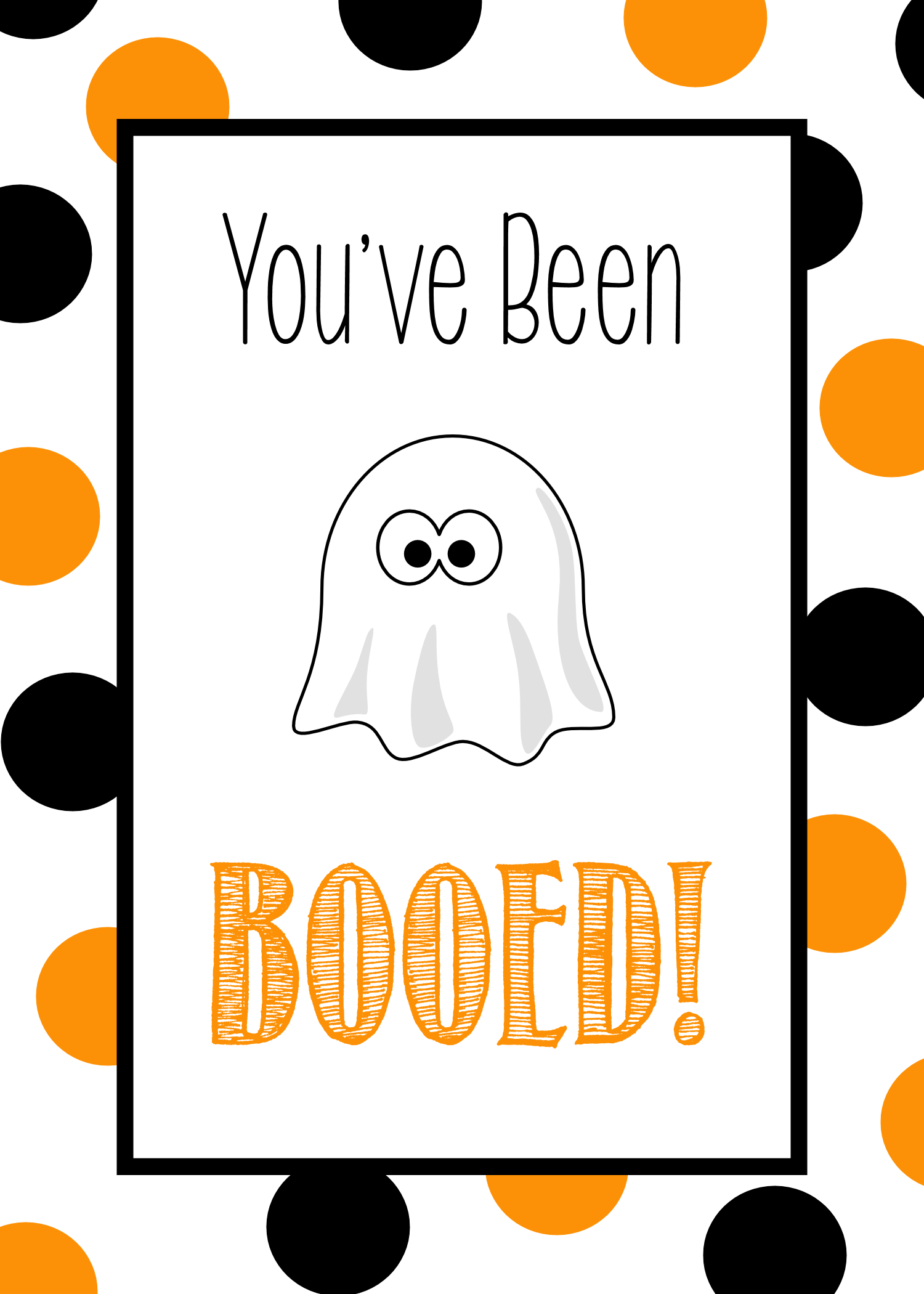 You've Been Booed - Cute Free Printable Tags & Halloween Gift Ideas - We Ve Been Booed Free Printable