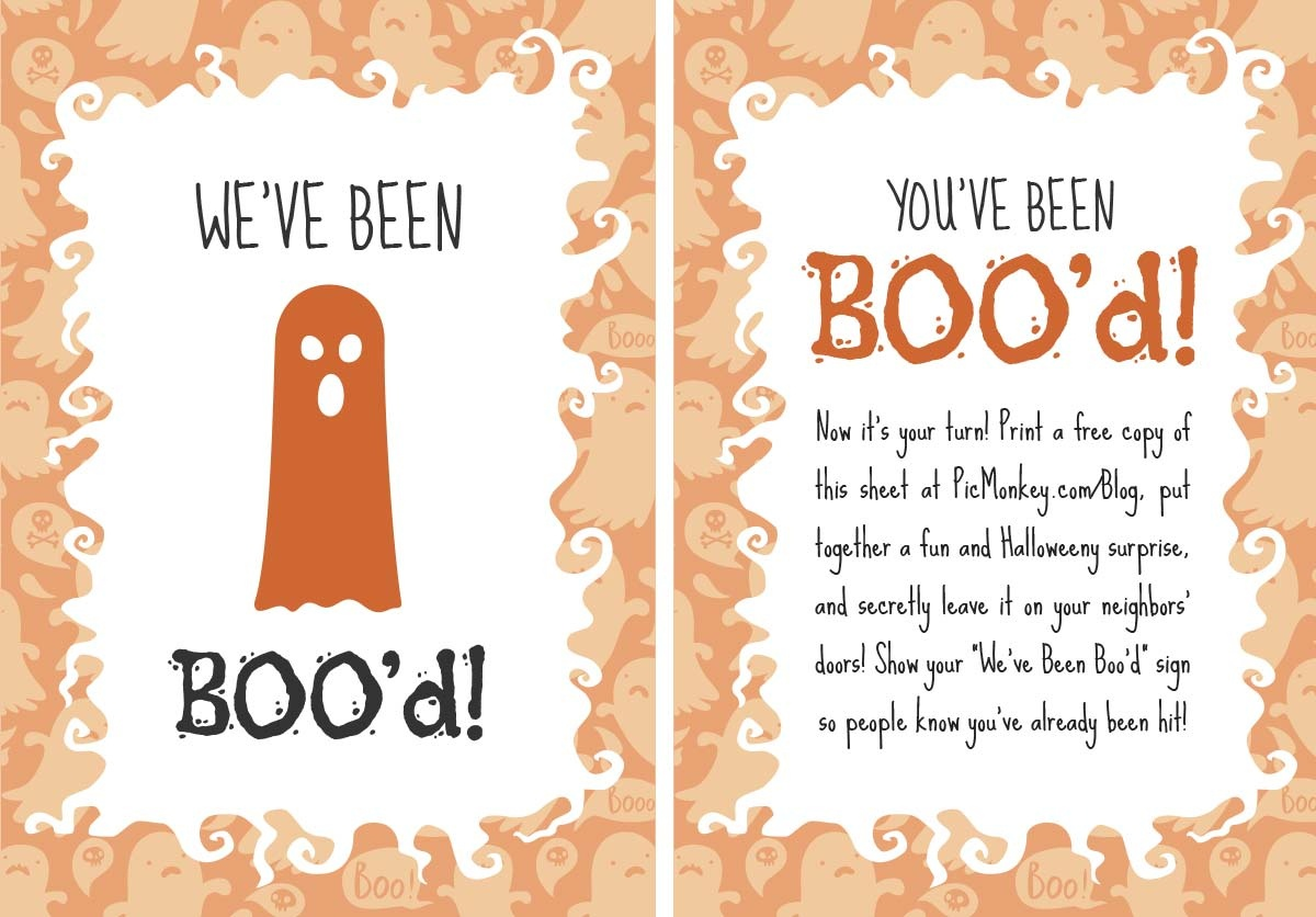 You've Been Booed Printables | Picmonkey Blog - We Ve Been Booed Free Printable