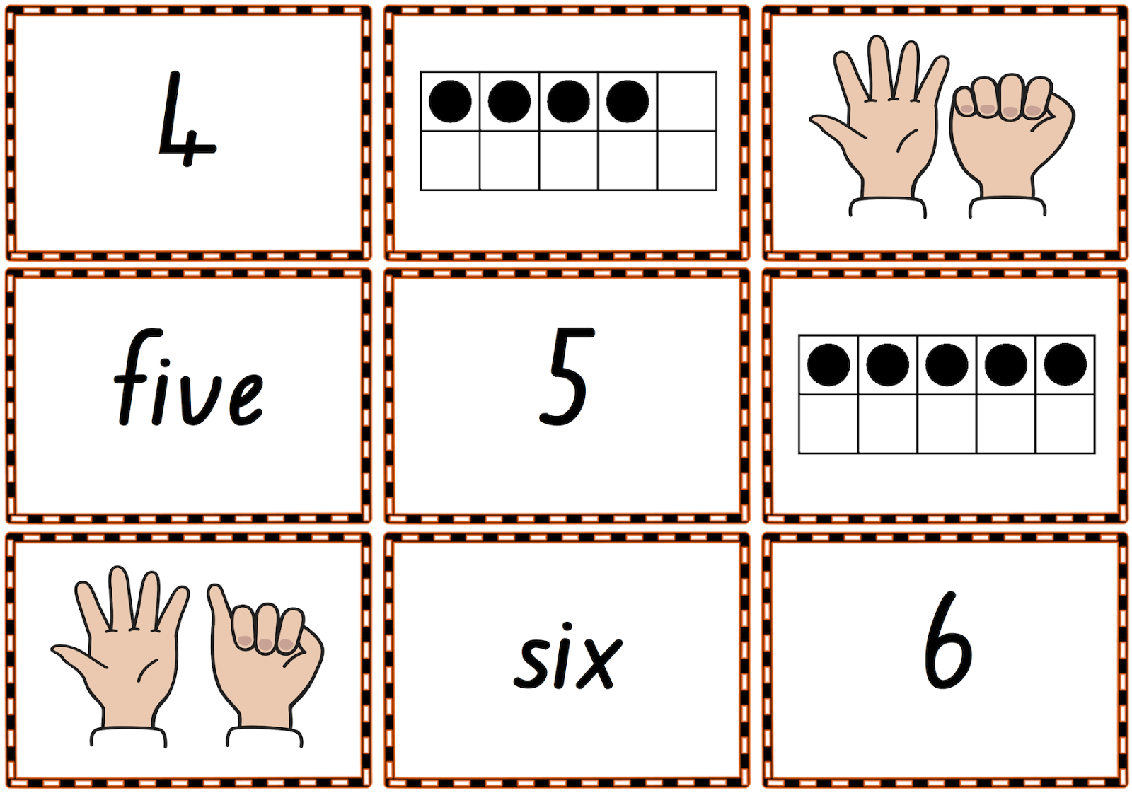 0–10 Memory Match Or Snap Game Cards To Practise Numbers, Number - Free Printable Snap Cards