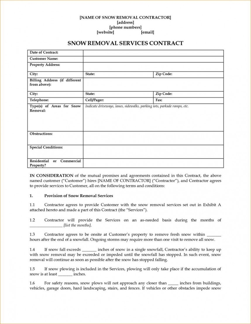 002 Simple Snow Plow Contract Template Removal Stupendous ...