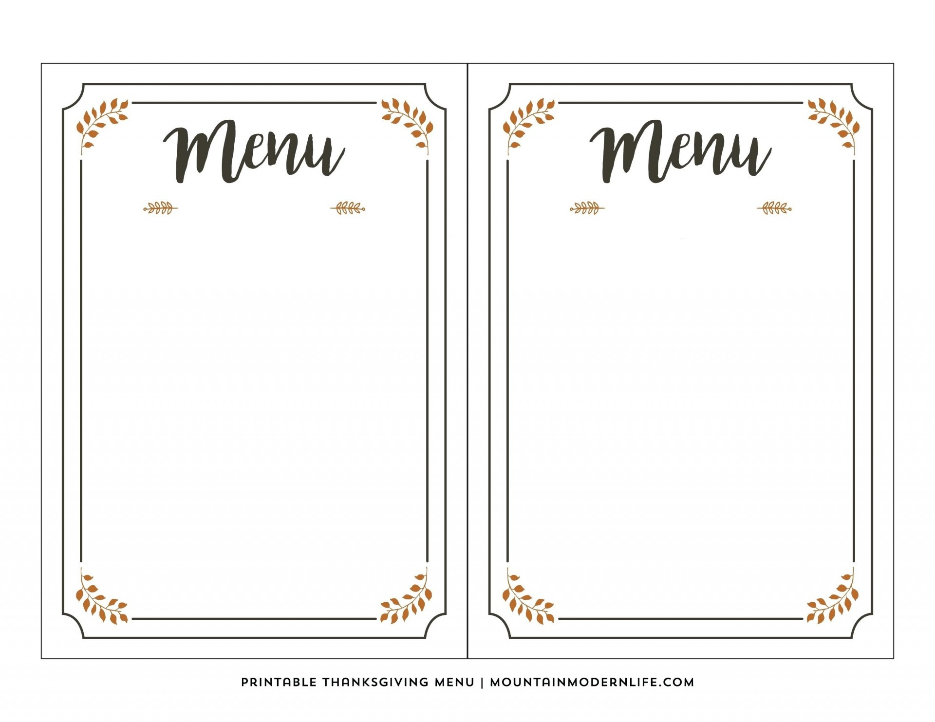 003 Free Printable Menu Template Templates For Kids New Awesome - Free Printable Menu