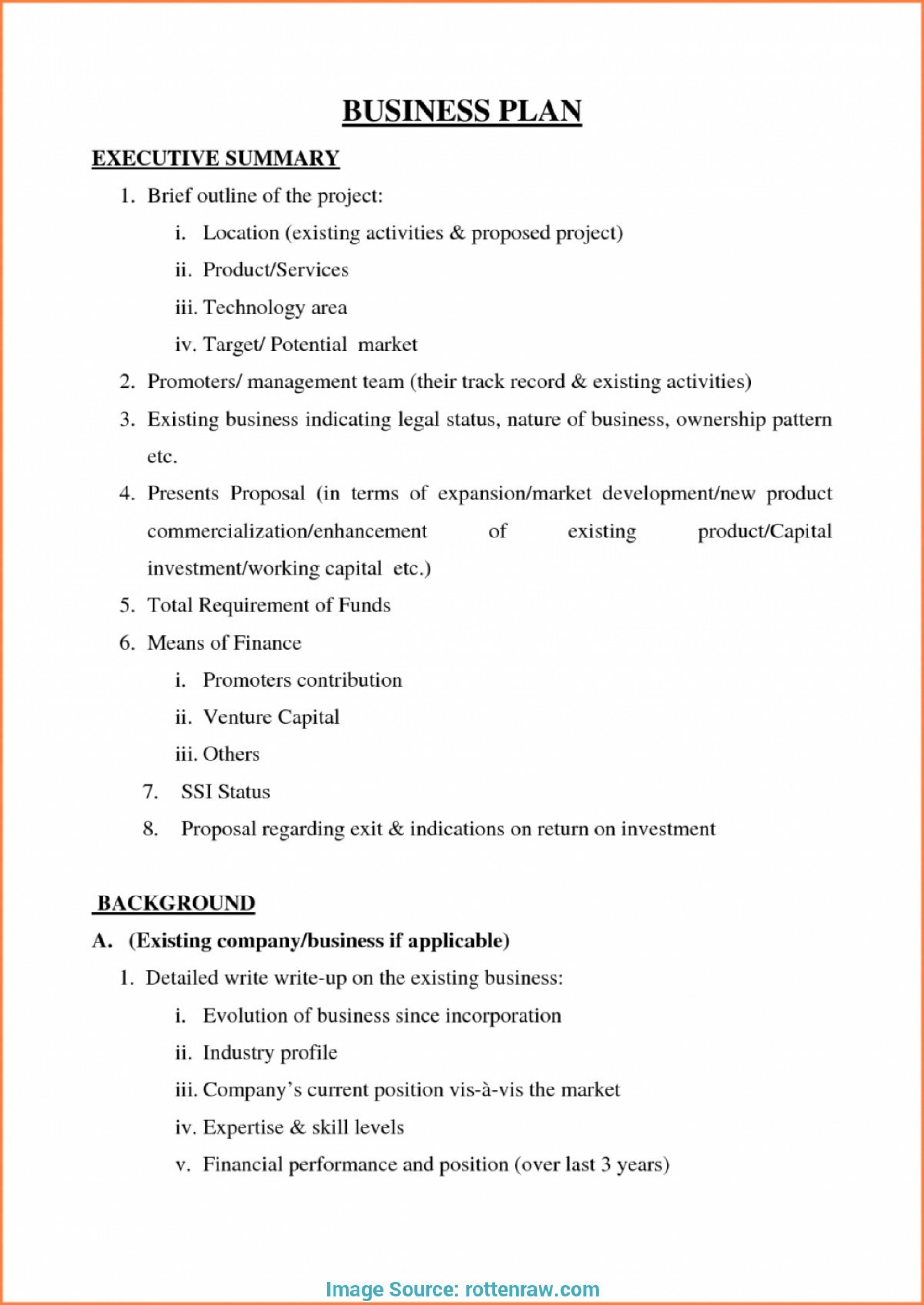 003 Small Business Plan Template Pdf Valid Simple Free Example - Free Printable Simple Business Plan Template