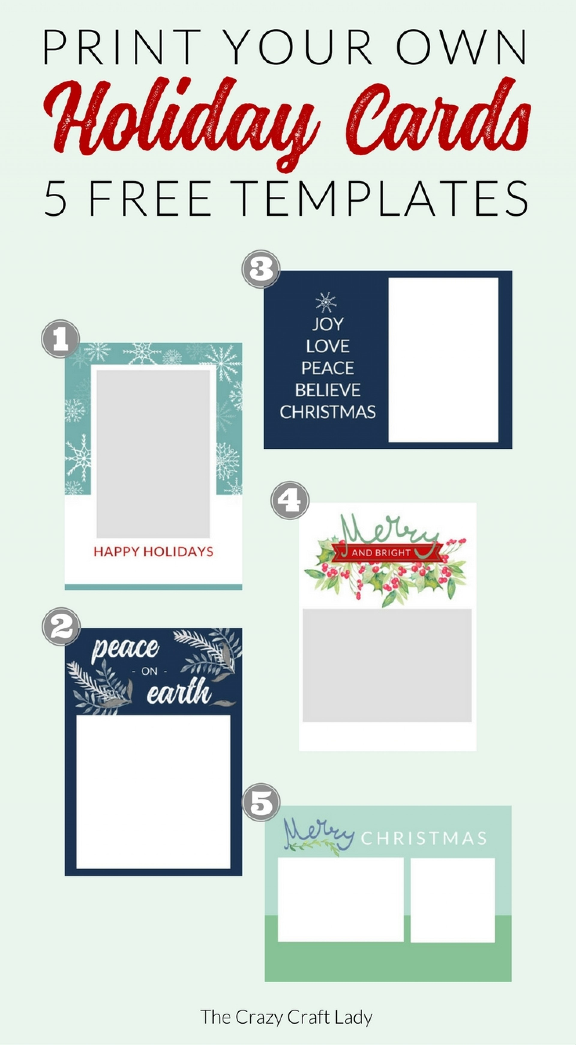 004 Free Printable Holiday Photo Card Templates Cards Template - Free Printable Holiday Cards