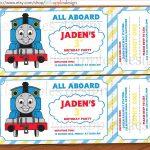 005 Thomas The Train Invitation Template Excellent Ideas Free Tank   Thomas Invitations Printable Free
