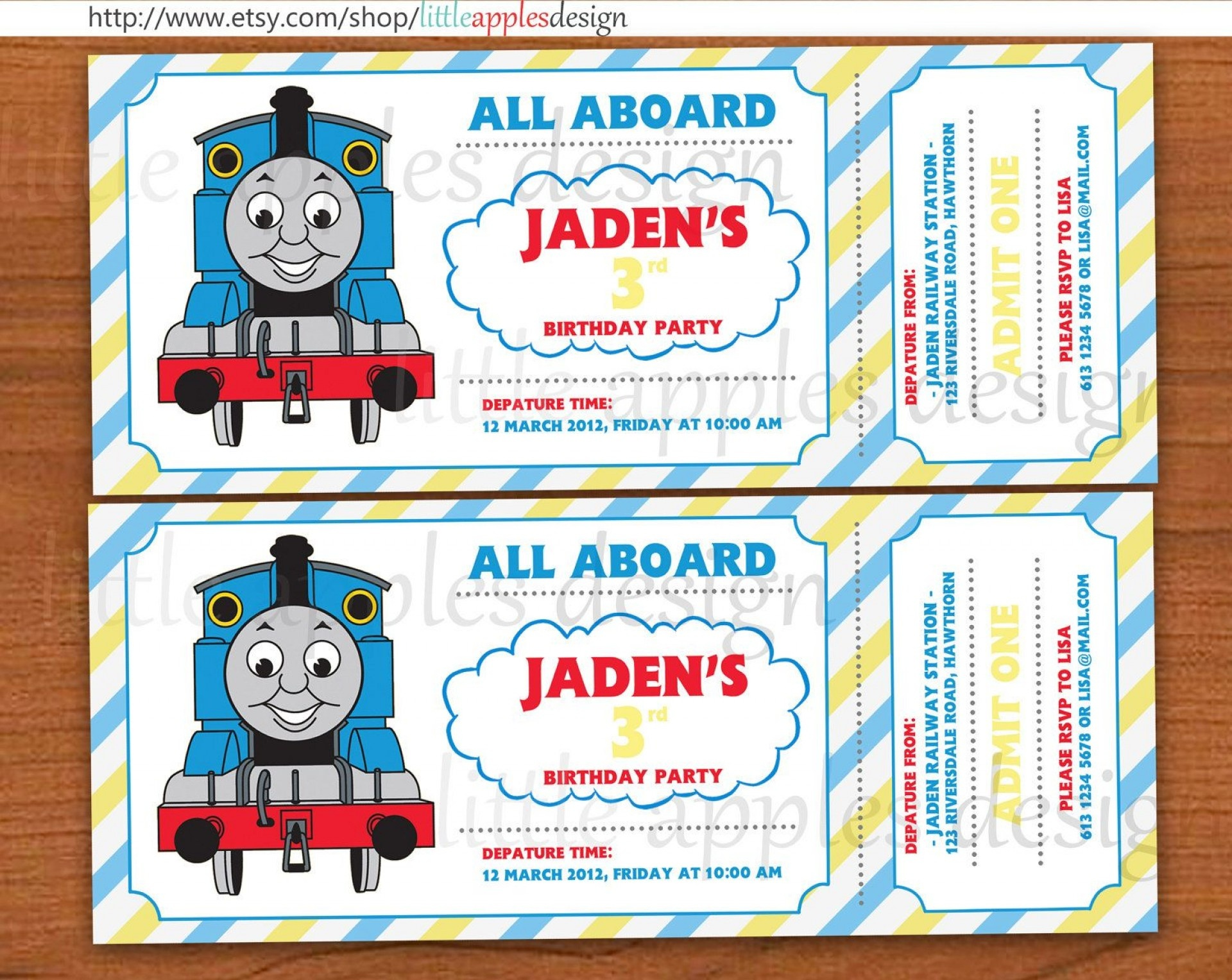 005 Thomas The Train Invitation Template Excellent Ideas Free Tank - Thomas Invitations Printable Free