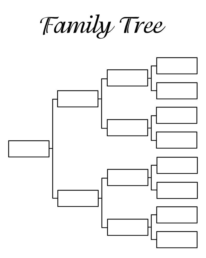 006 Template Ideas Family Tree Printable Fearsome Templates 5 - Free Printable Family Tree Template 4 Generations