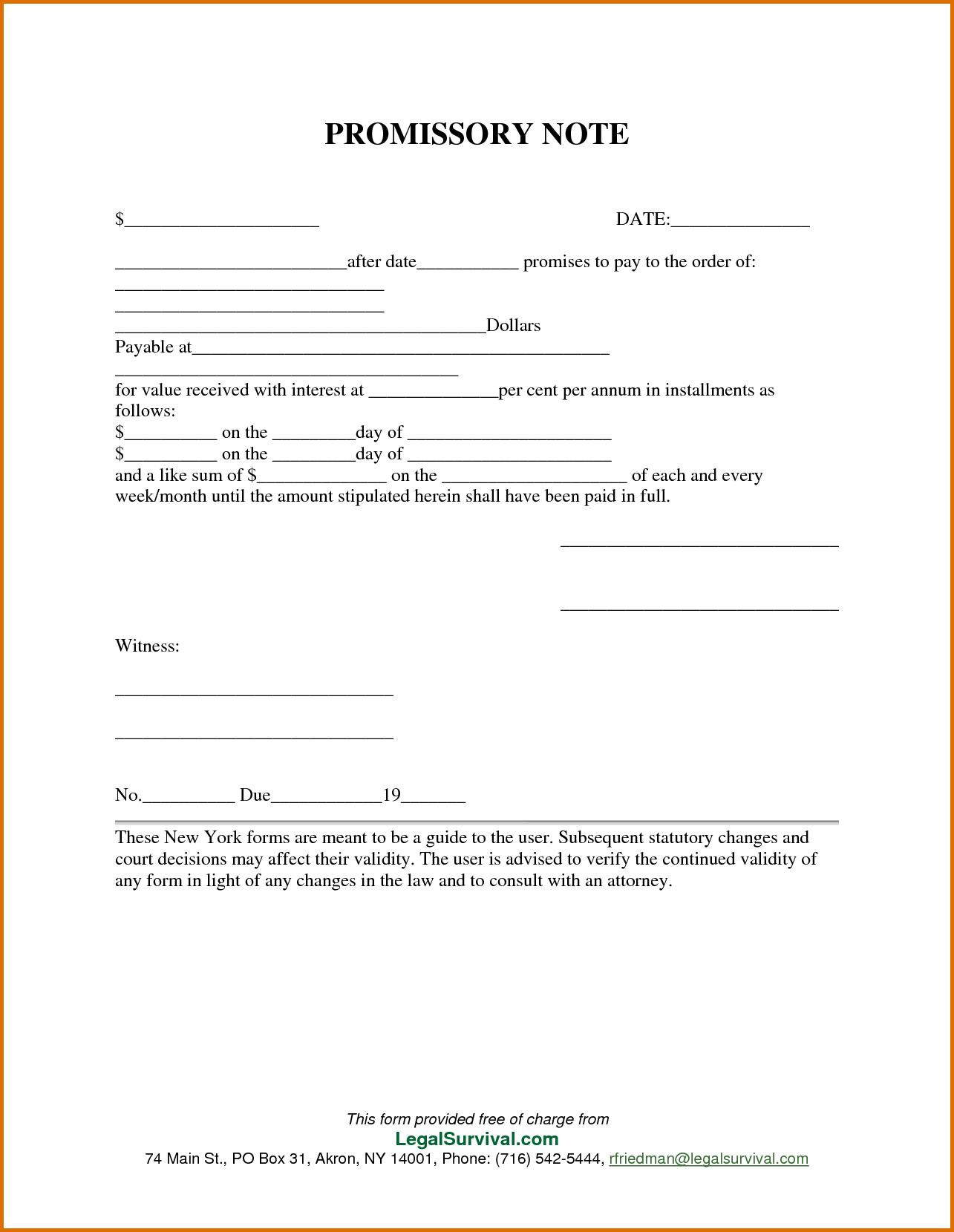 006 Template Ideas Free Promissory Note For Personal Loan - Free Printable Promissory Note For Personal Loan