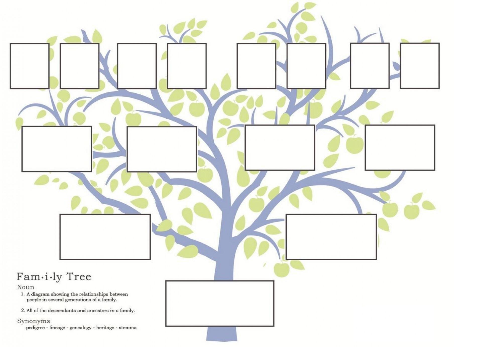 007 Free Family Tree Templates Pedigree Chart Template Sensational - Free Printable Family Tree Template 4 Generations