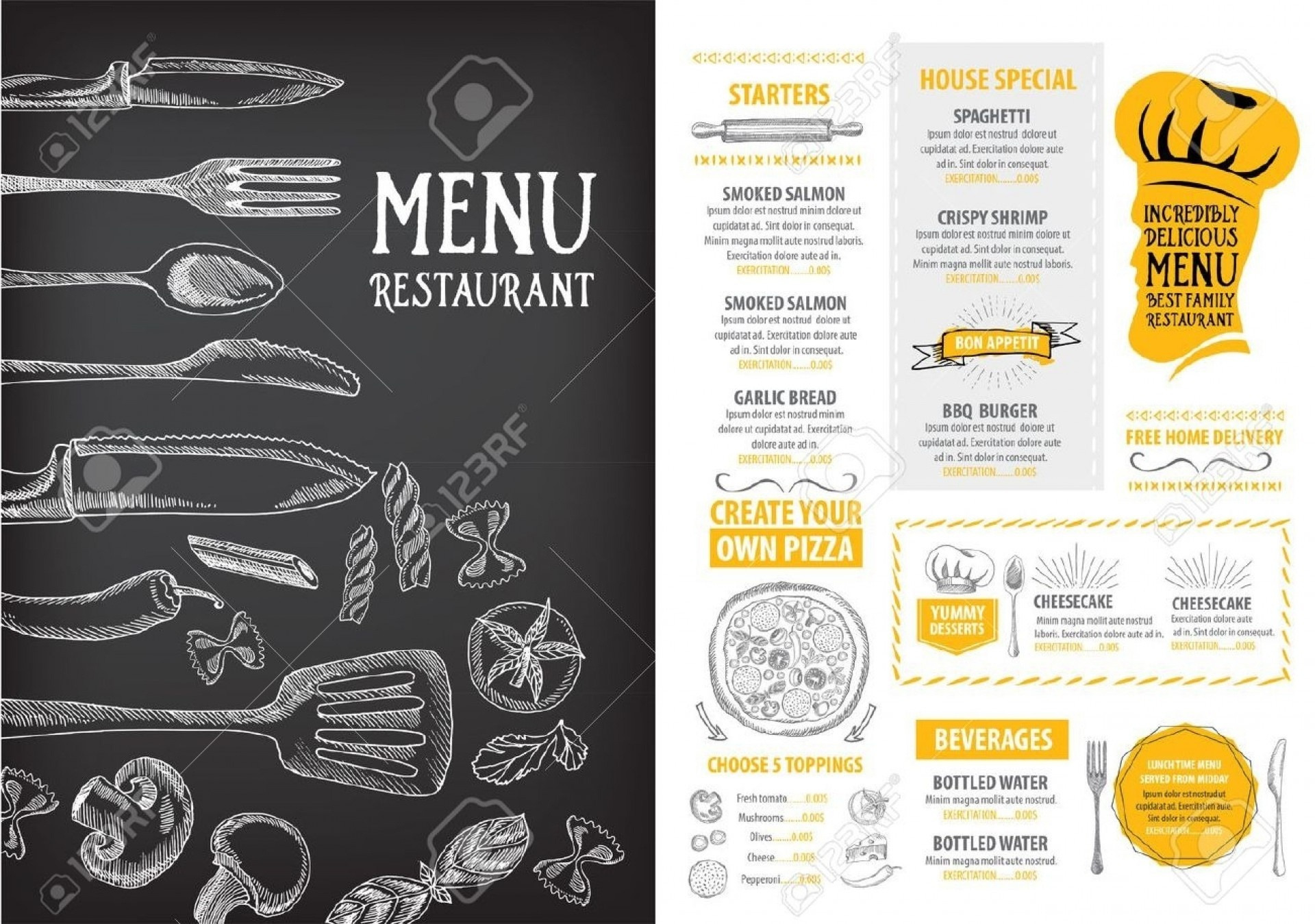 007 Free Menu Design Templates Template Printables And Charts - Design A Menu For Free Printable