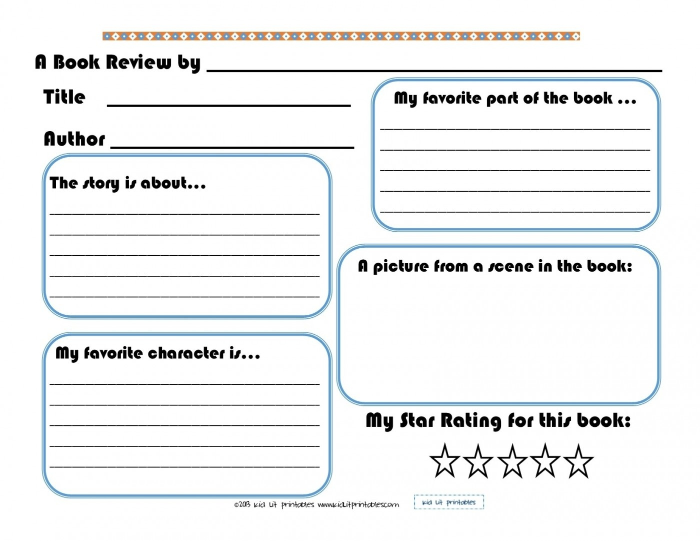 008 Book Report Templates Listening Centers Template Ideas - Free Printable Books For 5Th Graders