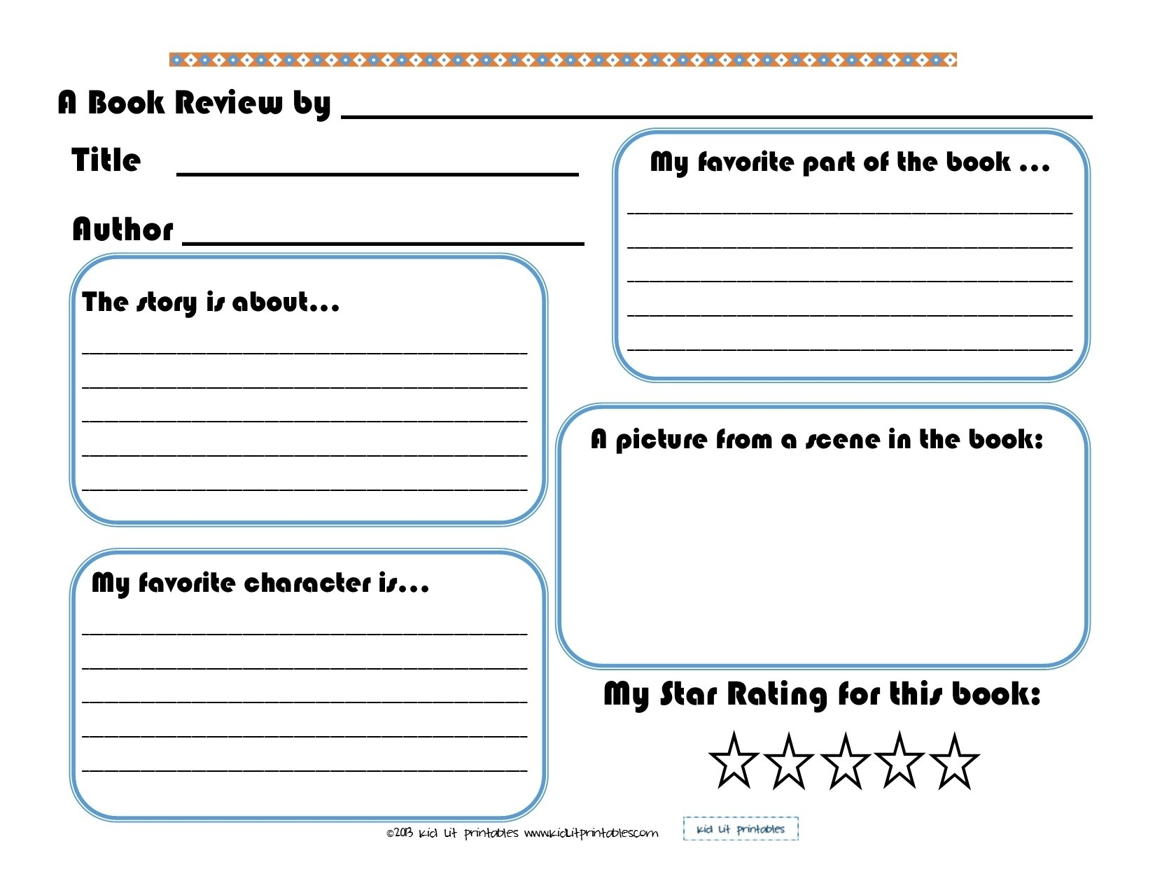 009 Best Images Of Printable Elementary Book Report Forms Pertaining - Free Printable Book Report Forms For Second Grade