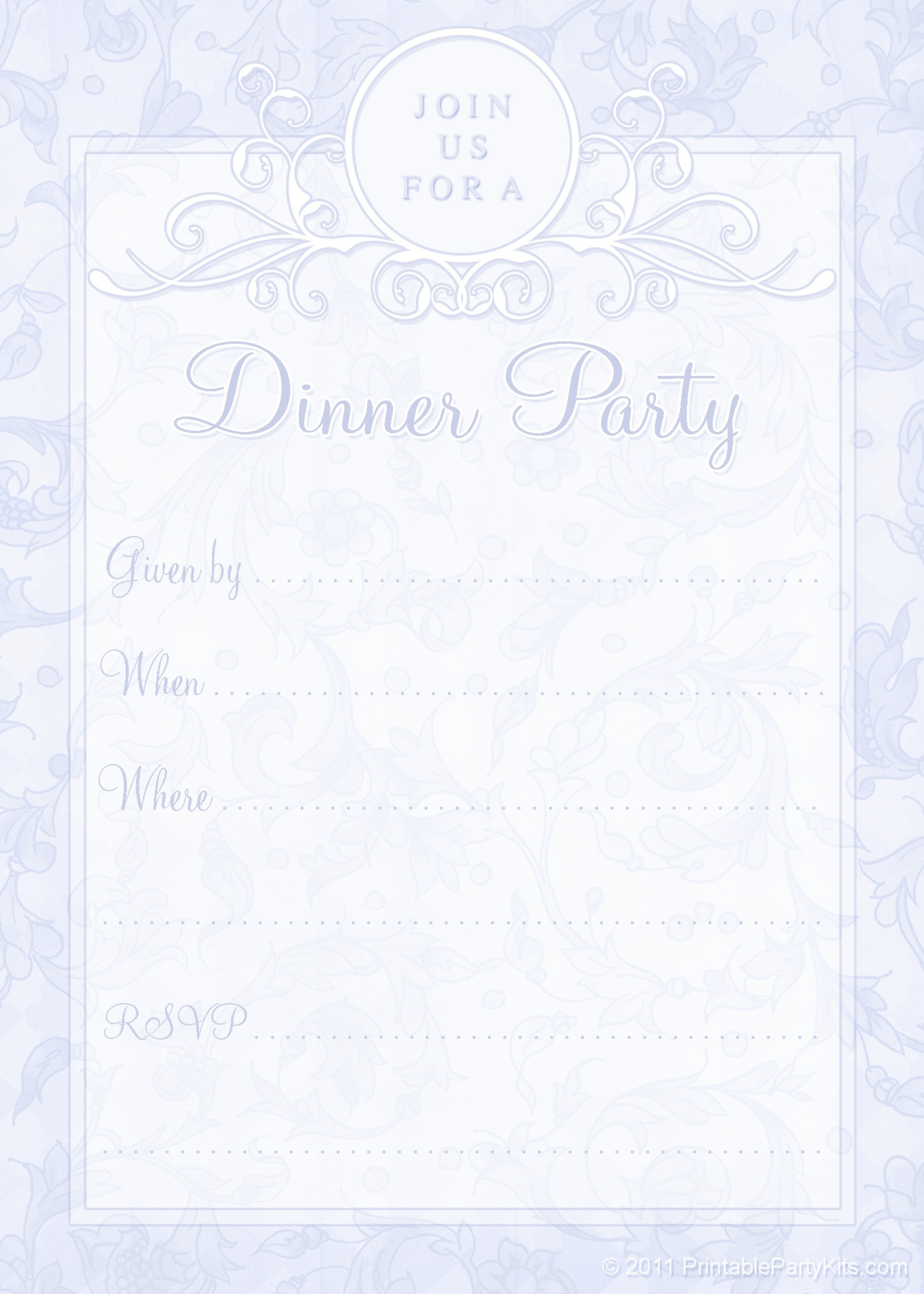 009 Dinner Party Invitations Templates Free Printable 44780 Template - Free Printable Italian Dinner Invitations