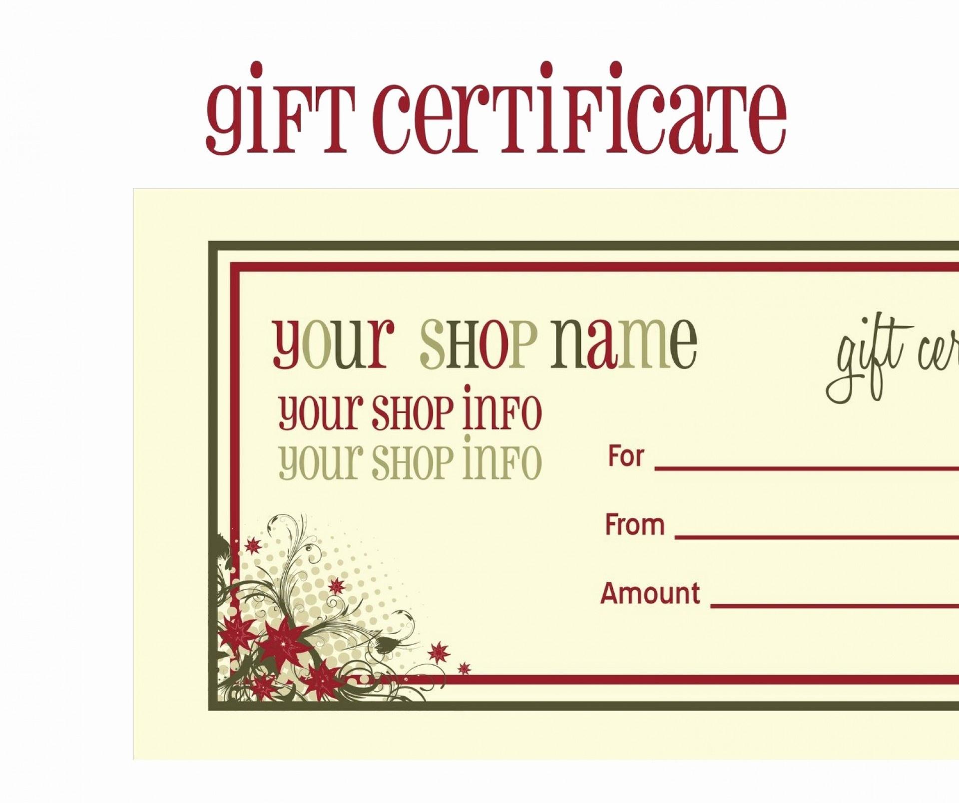 009 Printable Gift Certificatess Free Pics 948X1227 Certificate - Free Printable Gift Vouchers Uk