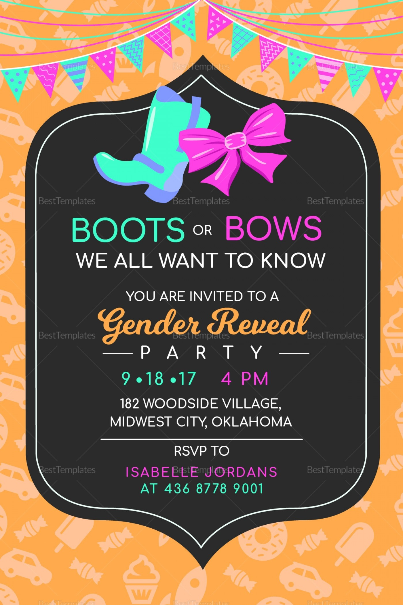 012 Free Printable Gender Reveal Invitations Invite For Your Party - Free Printable Gender Reveal Templates