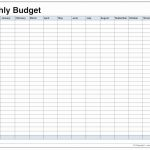 013 Printable Monthly Budget Template Free Best Of Blank Bud Pdf   Free Printable Budget Templates