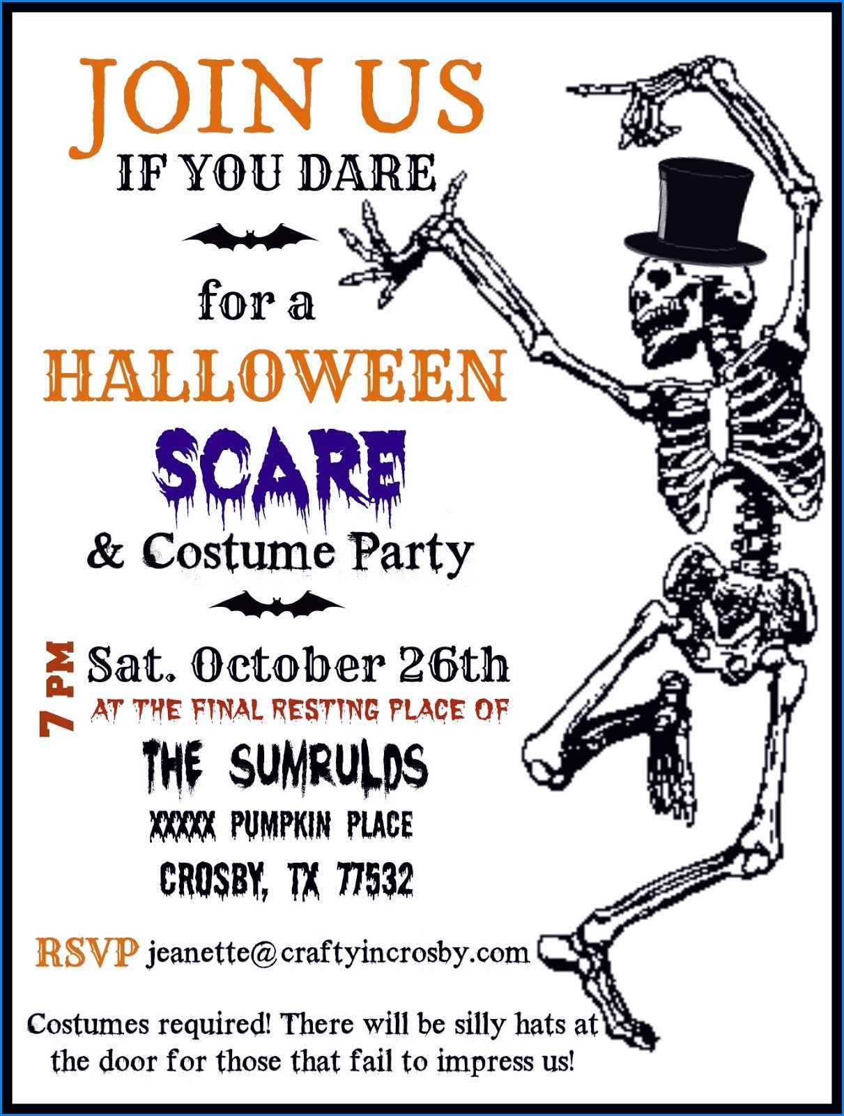 014 Halloween Party Invitations Template Free Printable For Adults - Free Printable Halloween Invitations For Adults