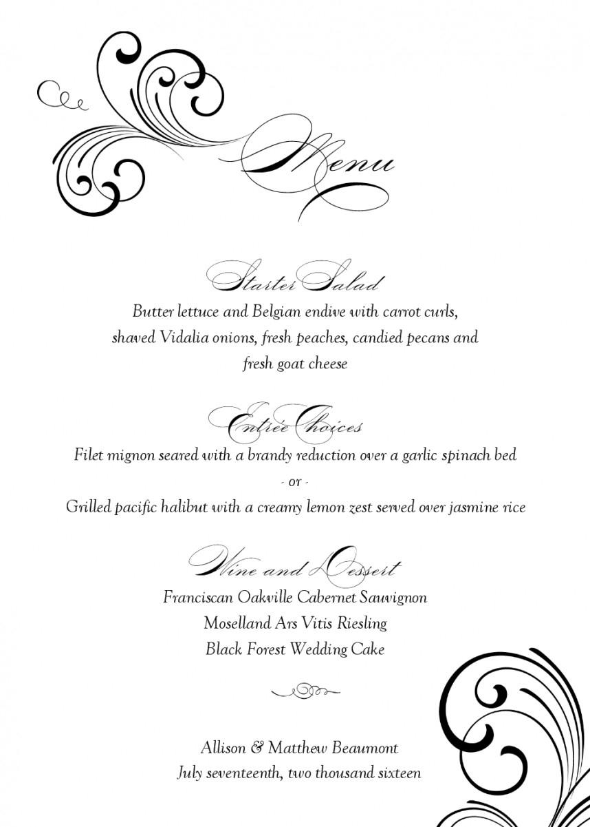 015 Free Printable Restaurant Menu Templates Best And Professional - Free Printable Menu Templates Word
