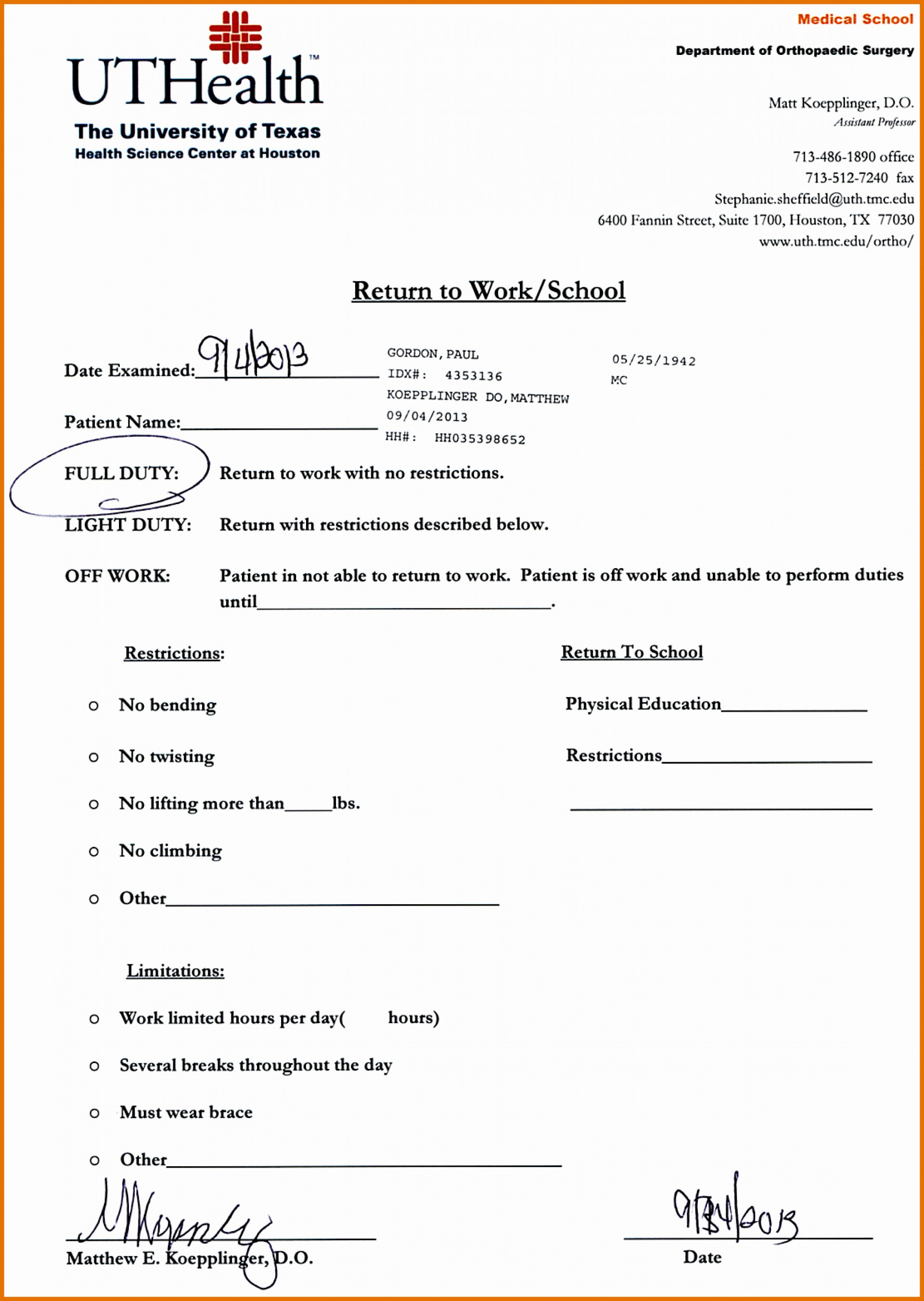 019 Dr Excuse Template For Work News Note Of Ideas Rare Doctor Free - Free Printable Doctors Excuse For School