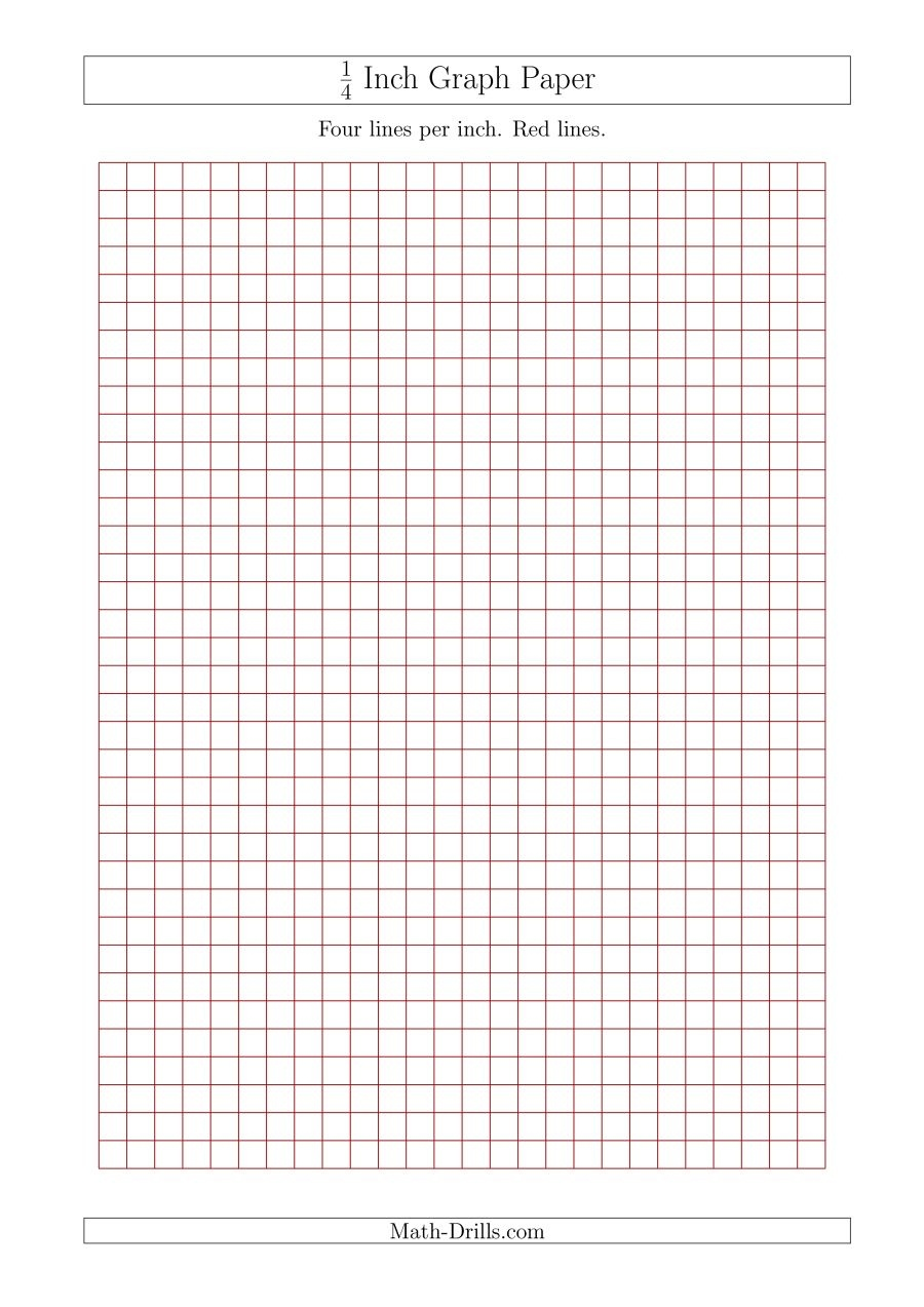 1 4 Inch Graph Paper To Print - Demir.iso-Consulting.co - Half Inch Grid Paper Free Printable
