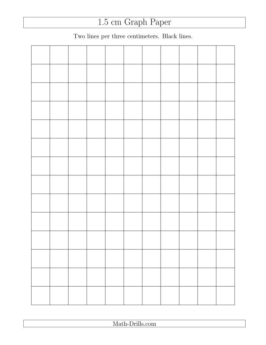 1.5 Cm Graph Paper With Black Lines (A) - Cm Graph Paper Free Printable