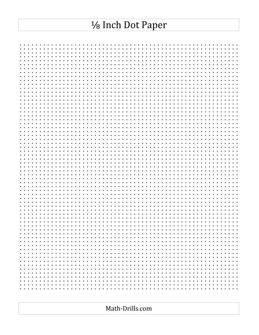 1/8 Inch Dot Paper (A) - Free Printable Square Dot Paper