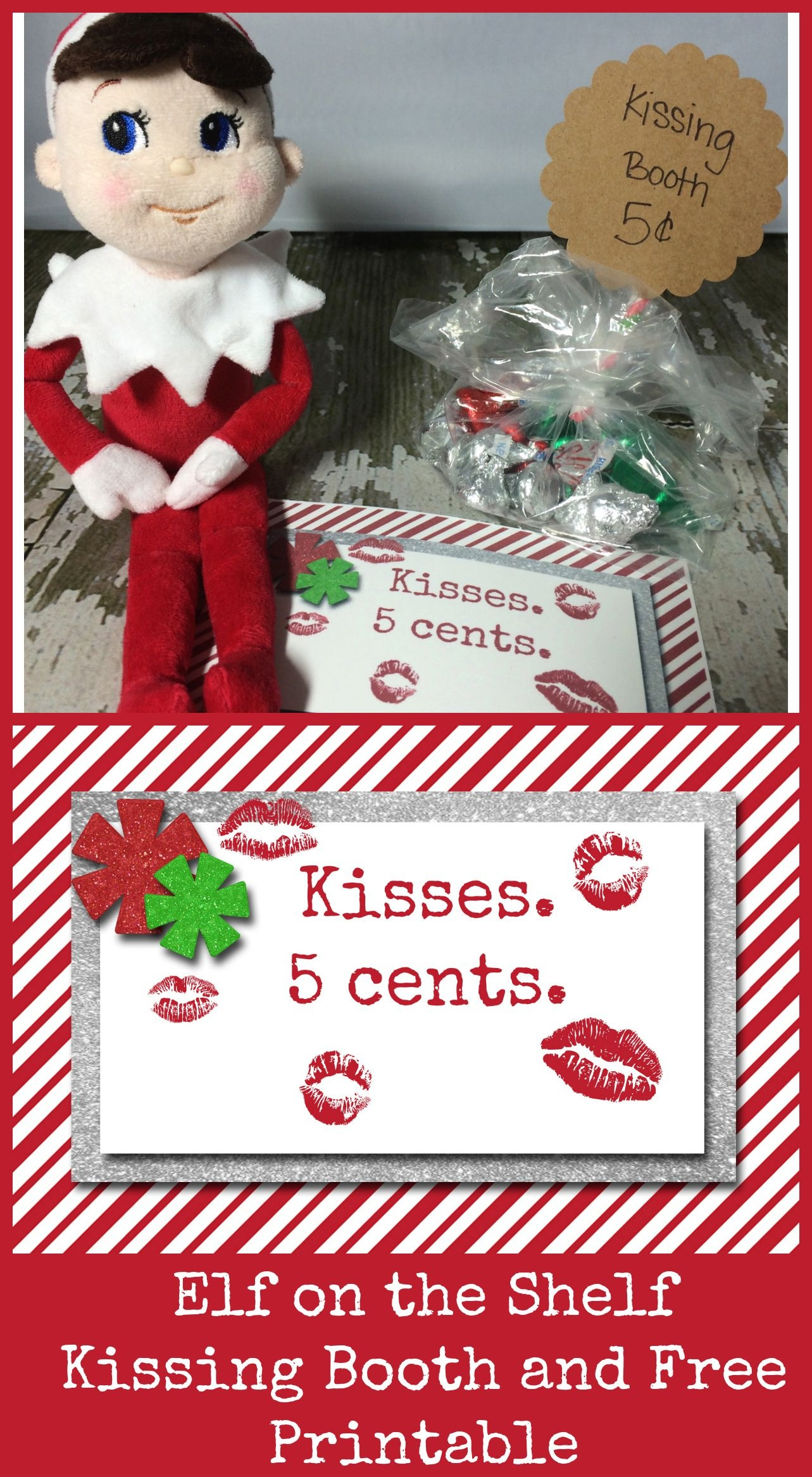 10 Easy Elf On The Shelf Ideas And A Daily Printable | Best Crafts - Elf On The Shelf Kissing Booth Free Printable