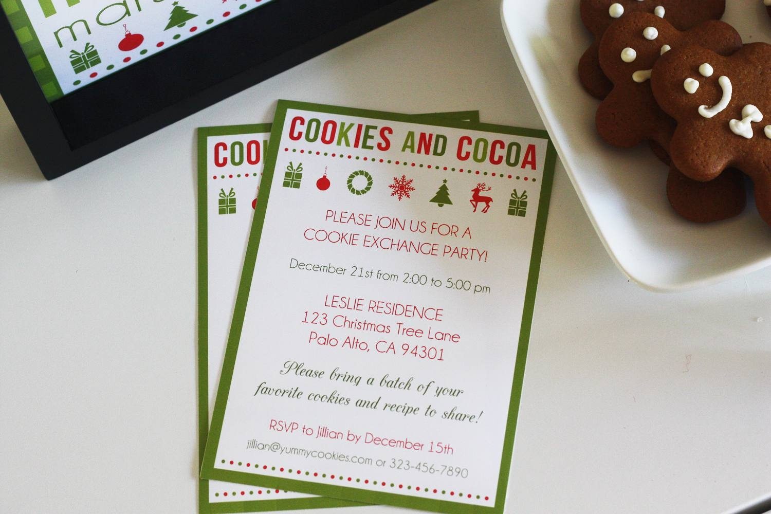 10 Free Christmas Party Invitations That You Can Print - Free Christmas Cookie Exchange Printable Invitation