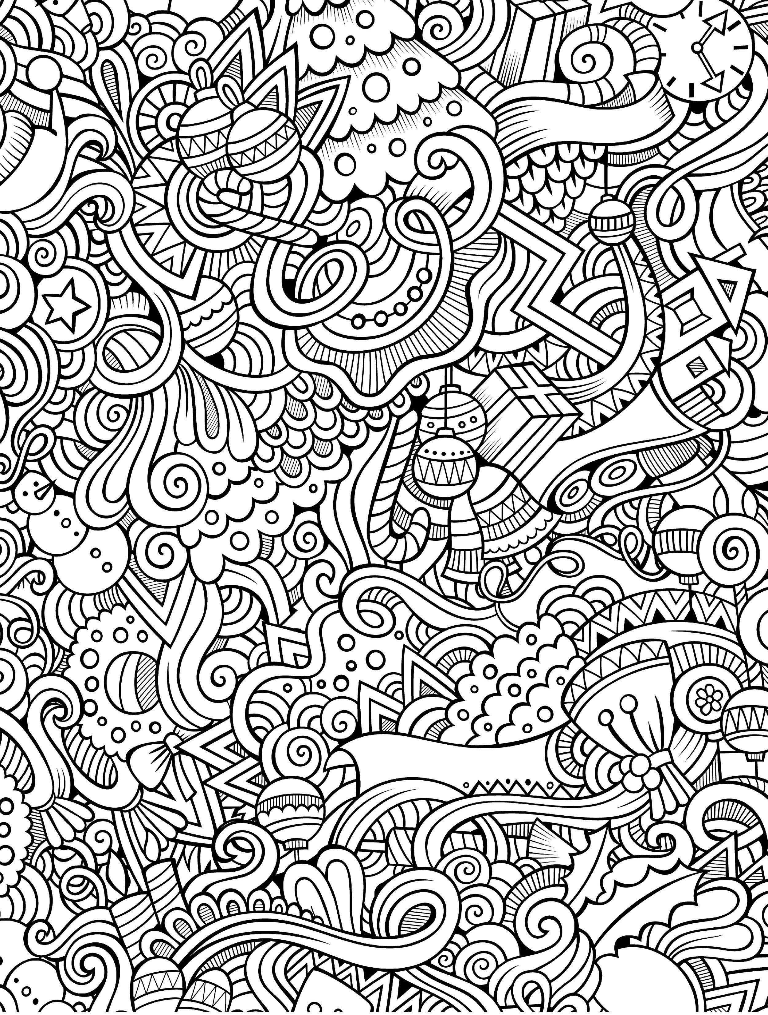10 Free Printable Holiday Adult Coloring Pages | Coloring Pages - Free Printable Coloring Pages For Adults Pdf