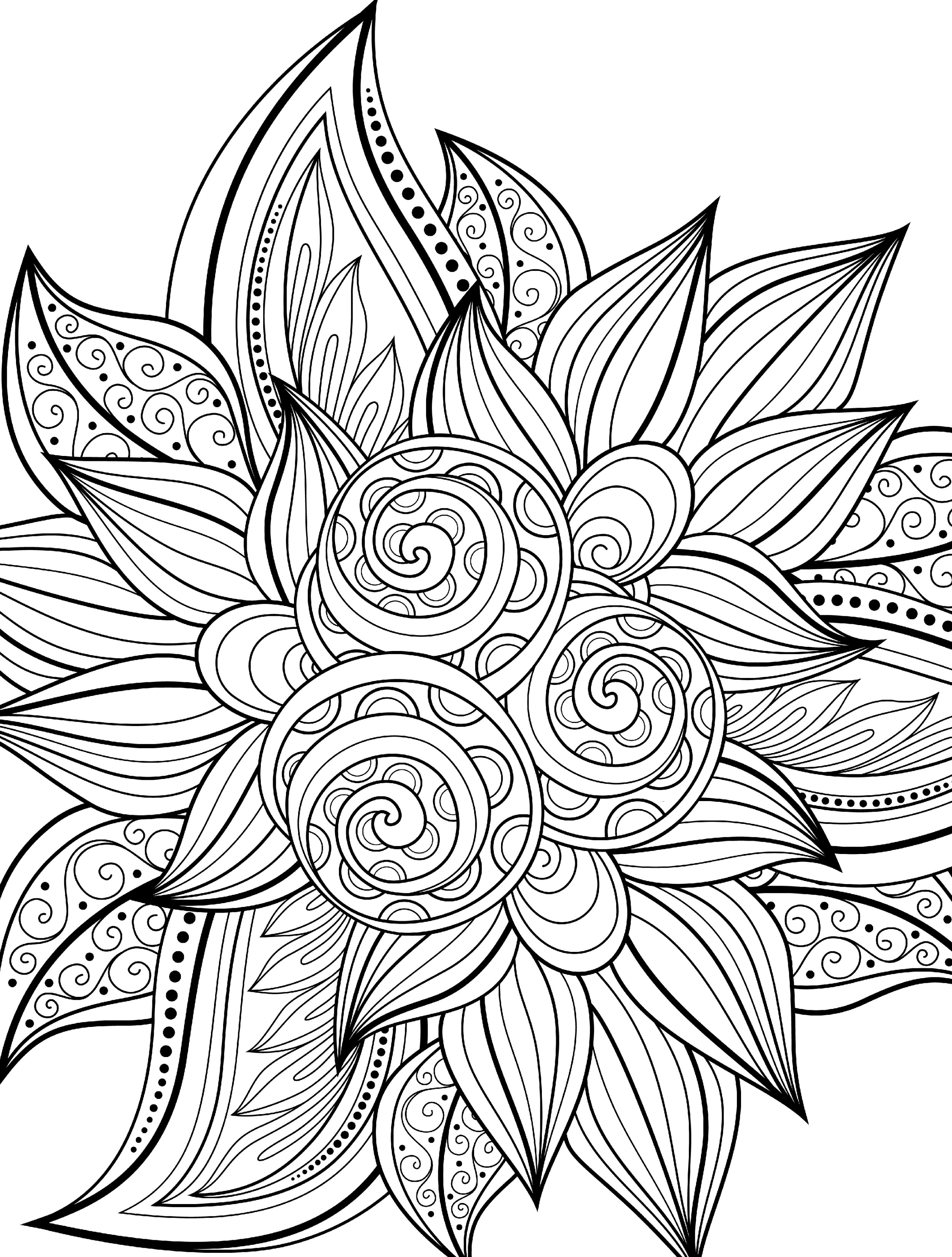 10 Free Printable Holiday Adult Coloring Pages - Free Printable Coloring Pages