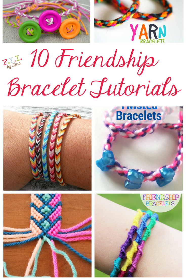 10 Friendship Bracelet Tutorials • Fyitina | Diy & Crafts - Free Printable Friendship Bracelet Patterns