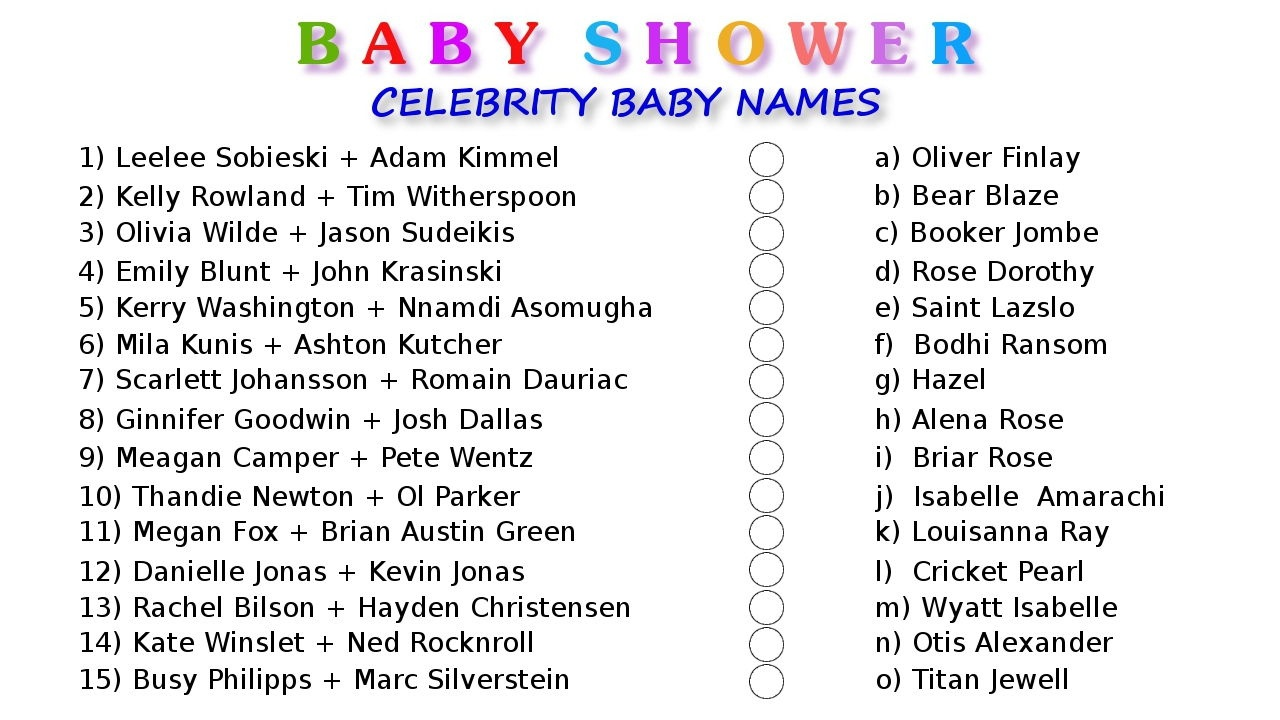 10 Printable Baby Shower Games Your Guests Will Surely Enjoy - Free Printable Baby Shower Games With Answers