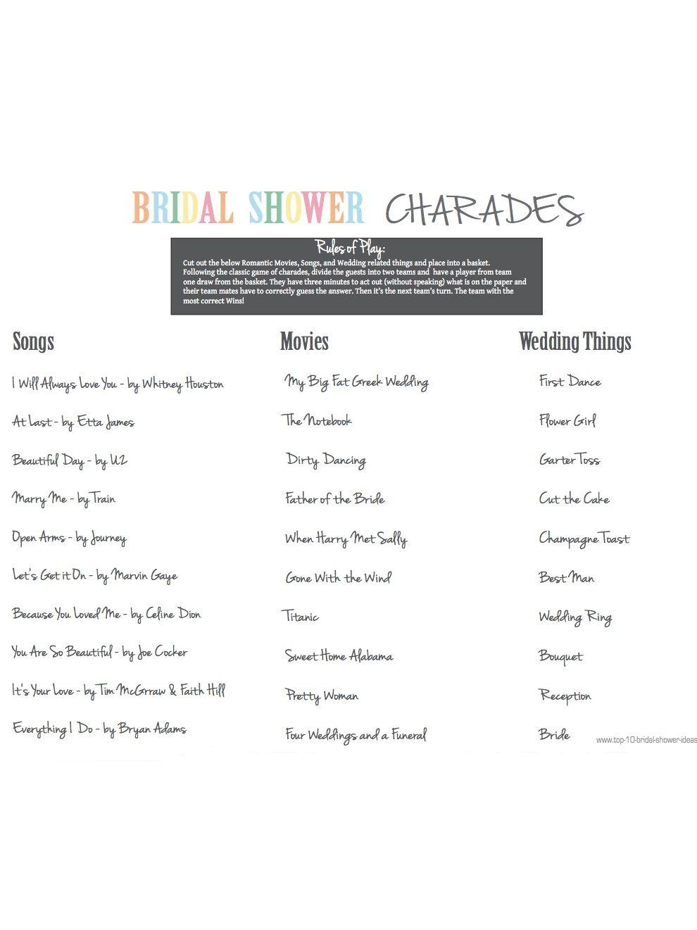 10 Printable Bridal Shower Games You Can Diy | Ashley's Wedding - Free Printable Wedding Shower Games