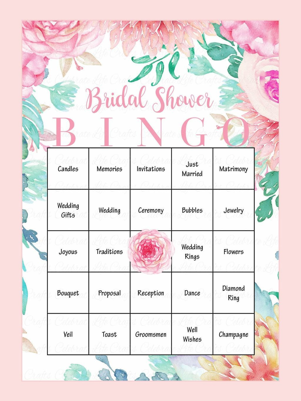 10 Printable Bridal Shower Games You Can Diy   Wedding Ideas - Free Printable Bridal Shower Blank Bingo Games