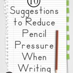 10 Suggestions To Reduce Pencil Pressure When Writing   Your Therapy   Handwriting Without Tears Worksheets Free Printable