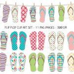 101+ Printable Clip Art | Clipartlook   Free Printable Flip Flop Pattern
