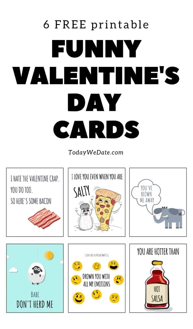 105 Funny Valentine's Day Printables To Surprise Your Sweetheart - Free Funny Printable Cards