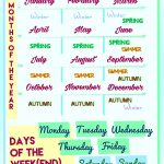 108 Free Months/days Of The Week Worksheets   Free Printable Days Of The Week Cards