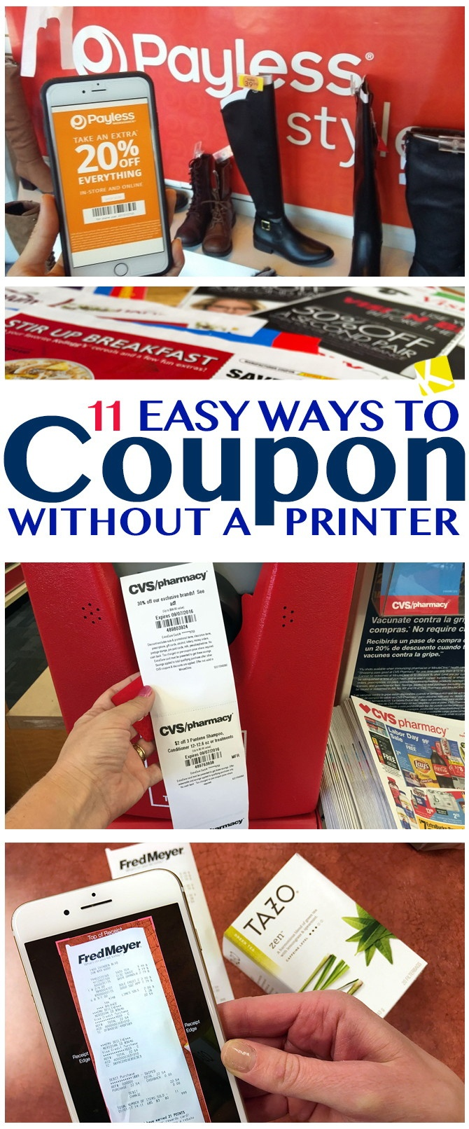 11 Easy Ways To Coupon Without A Printer - The Krazy Coupon Lady - Free Printable Coupons Without Downloading Coupon Printer
