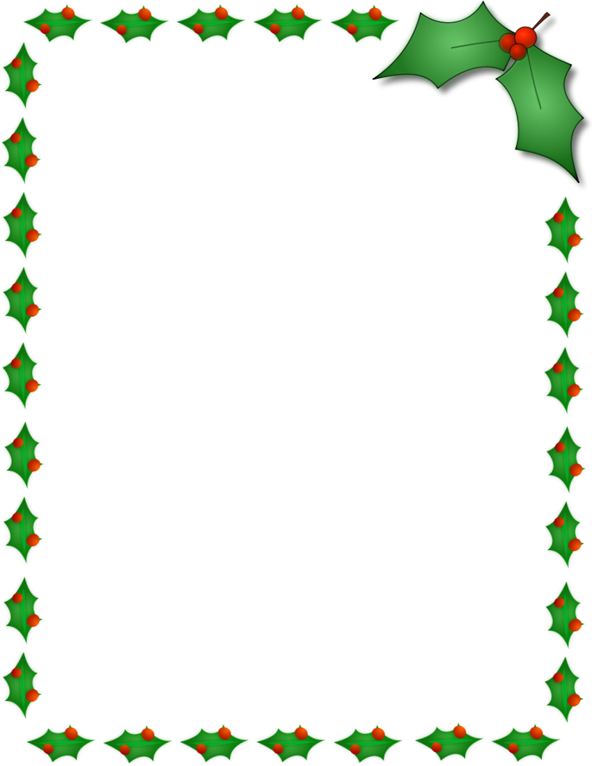 11 Free Christmas Border Designs Images - Holiday Clip Art Borders - Free Printable Christmas Paper With Borders