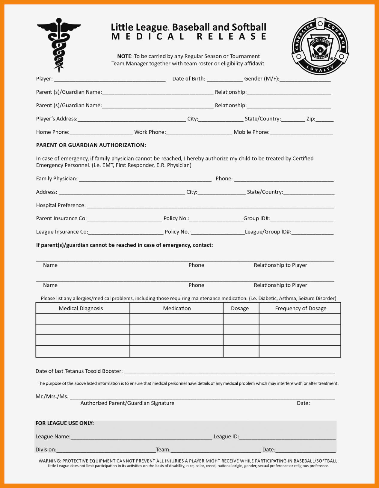 11 Free Printable Medical Forms | St Columbaretreat House – Free - Free Printable Medical Forms