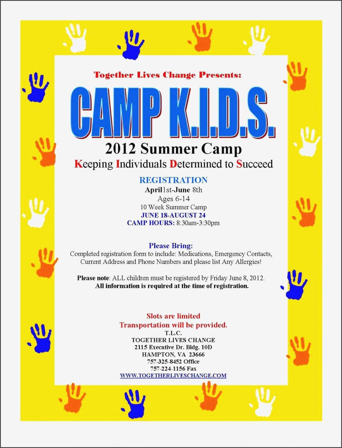 11 Free Summer Camp Registration Form Template – Sampletemplatess - Free Printable Summer Camp Registration Forms