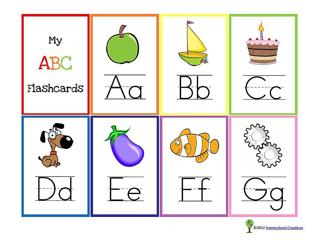 11 Sets Of Free, Printable Alphabet Flashcards - Free Printable Abc Flashcards With Pictures