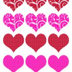 11 Valentine Heart Template Images   Free Printable Valentine Hearts   Free Printable Heart Templates