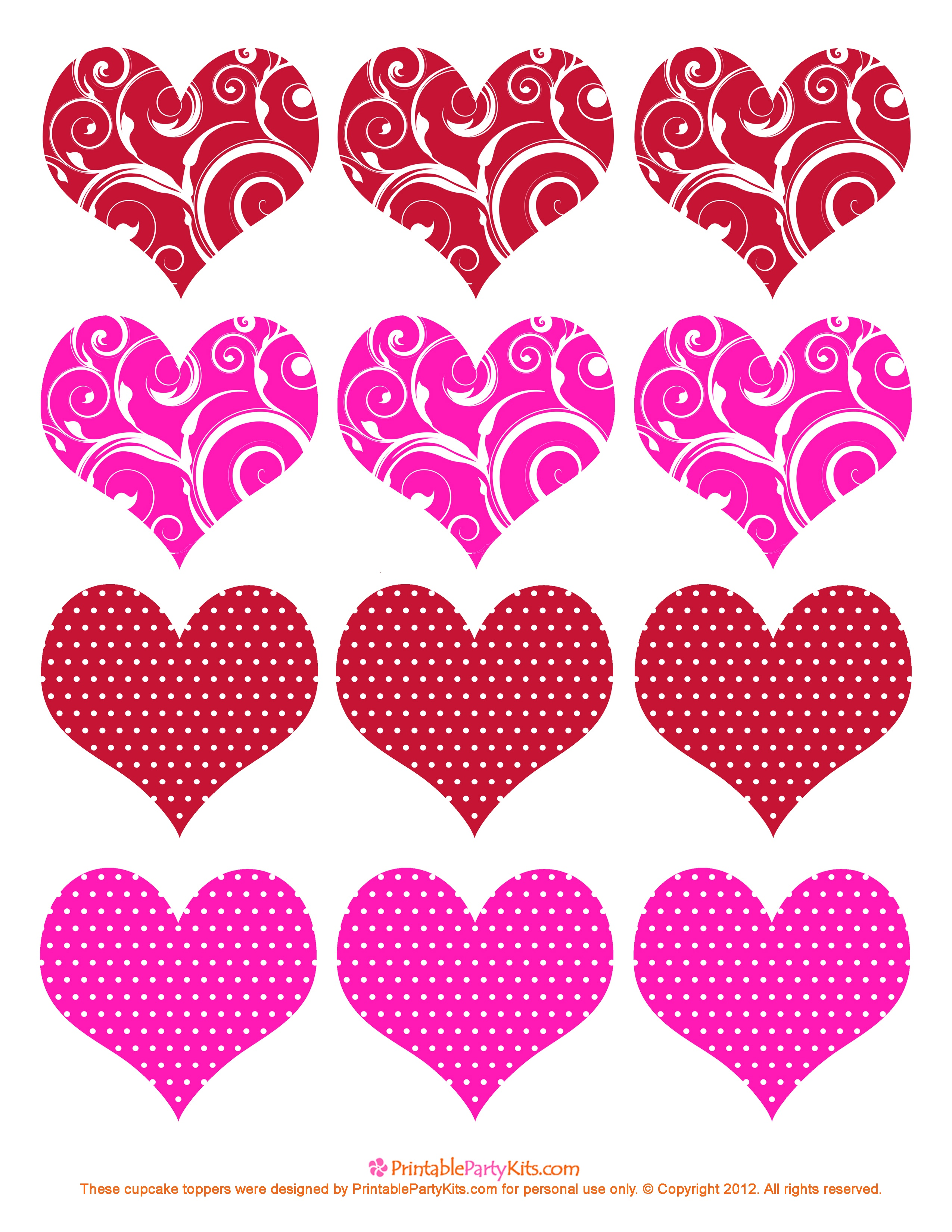 11 Valentine Heart Template Images - Free Printable Valentine Hearts - Free Printable Heart Templates