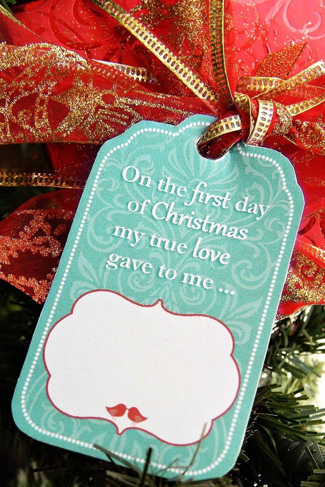 12 Days Of Christmas For Husband With Free Printable Gift Tags. Did - Free Printable 12 Days Of Christmas Gift Tags