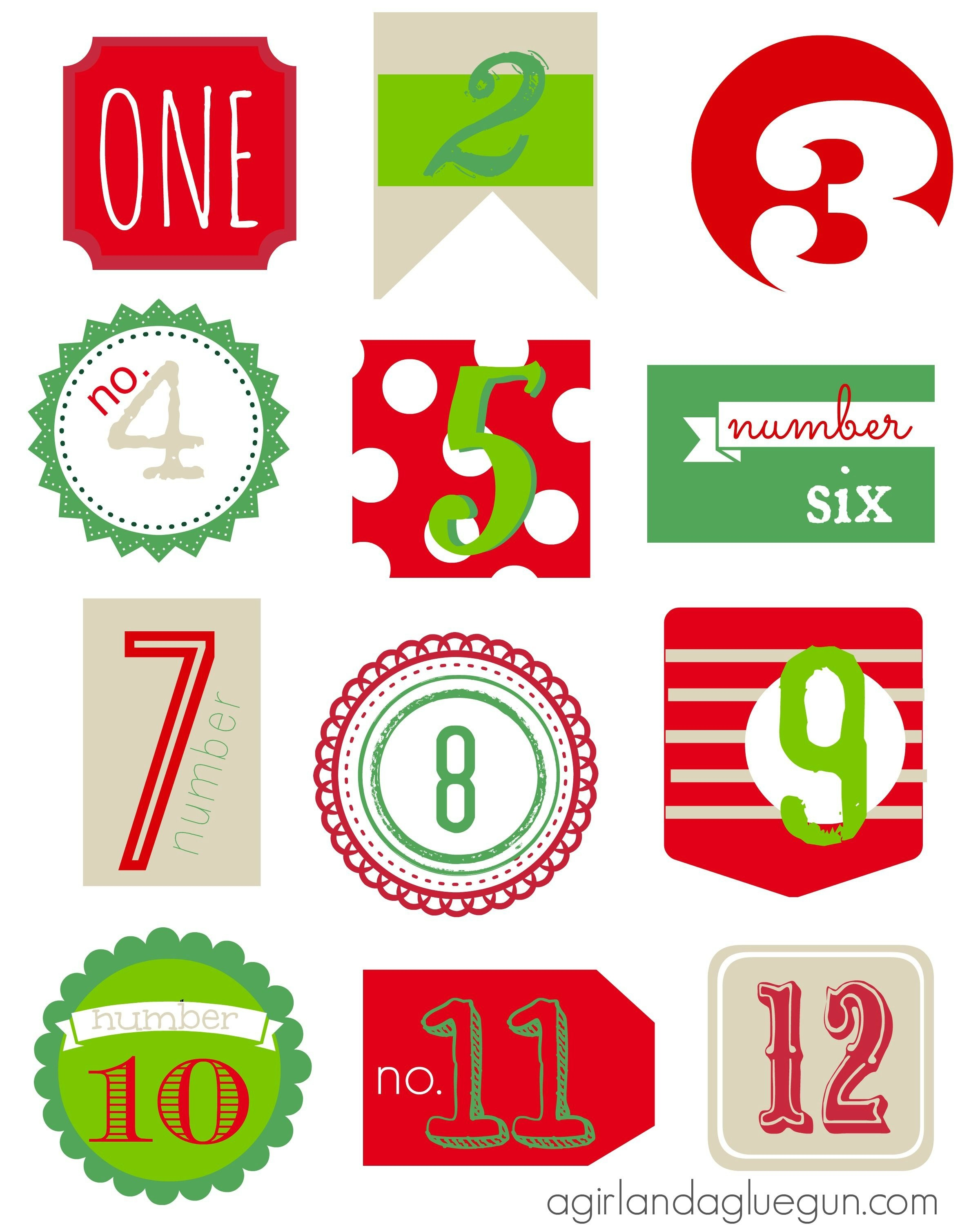 12 Days Of Christmas Free Printable | Tammy Beyer | Christmas - Free Printable 12 Days Of Christmas Gift Tags